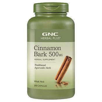 GNC Herbal Plus® Cinnamon Bark 500 MG桂皮提取物