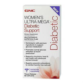 GNC Women's Ultra Mega ® Diabetic Support糖尿病版本