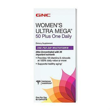 GNC Women's Ultra Mega® 50 Plus One Daily 50以上版本每日一粒款