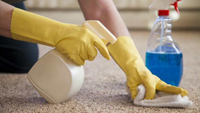 在美国清理地毯