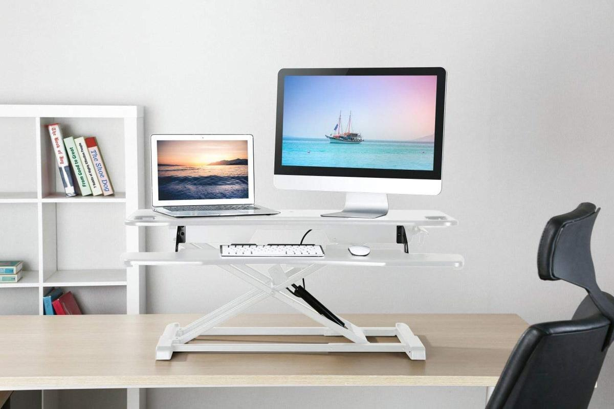 Standing Desk Converter Computer Table